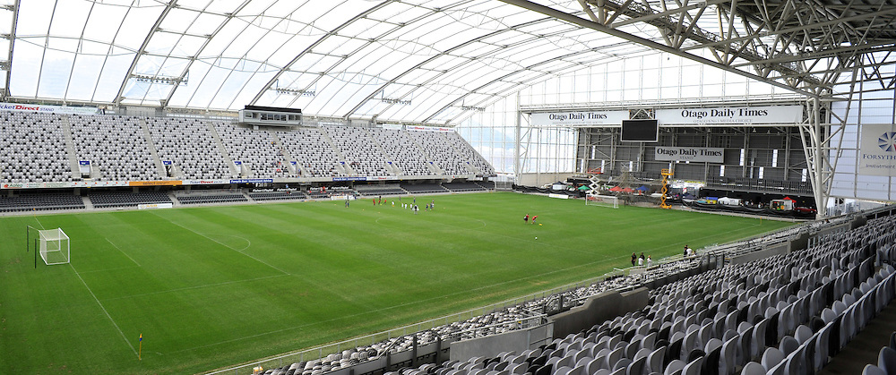 Otago United VS Hawkes bay United. Field veiw of Forsyth Barr Stadium