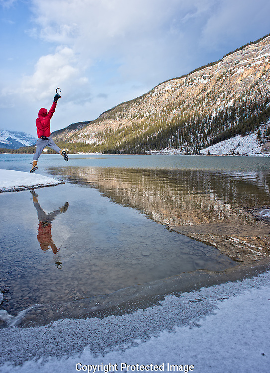 Ankit at Waterfowel Lake, Alberta, Canada, Isobel Springett