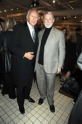 Left to right, HAROLD TILLMAN and COLIN McDOWELL at a party to celebrate the 2nd issue of Distill Magazine held at The Shop at Bluebrid, Kings Road, London on 1st December 2008.