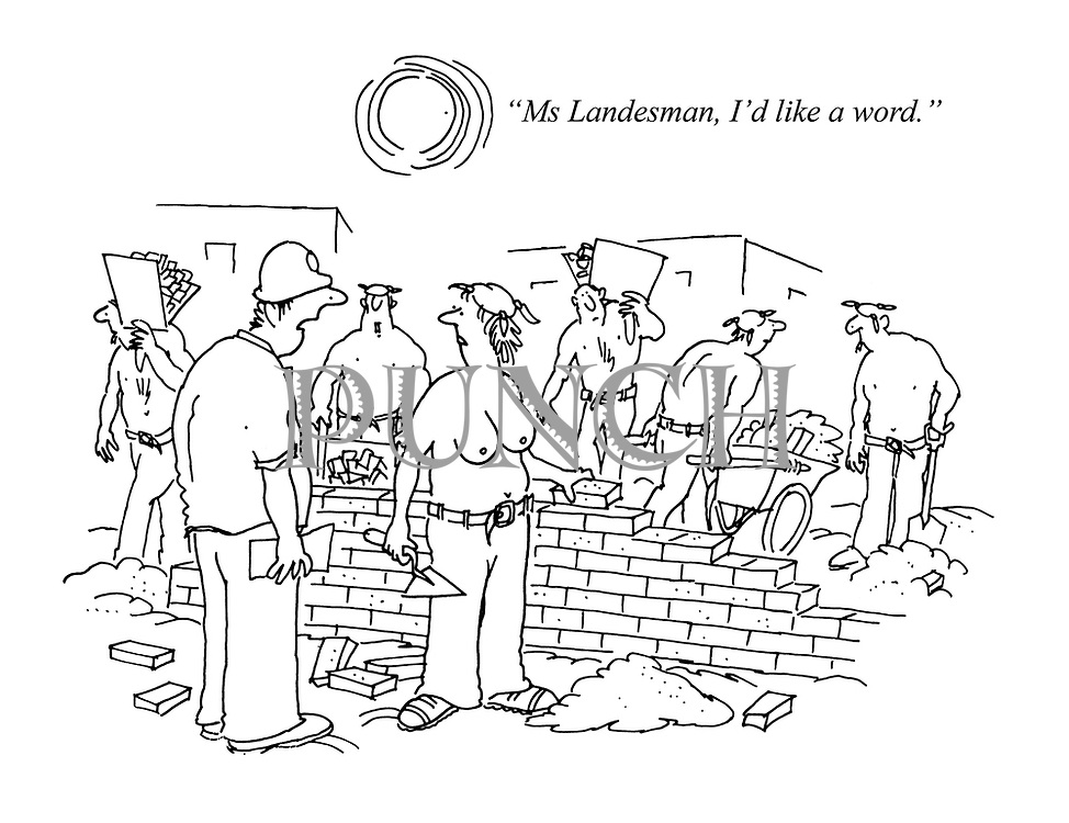 """Ms Landesman, I'd like a word."""