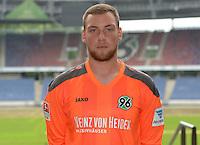 German Soccer Bundesliga 2015/16 - Photocall of Hannover 96 on 13 July 2015 in Hanover, Germany: goalie Timo Koenigsmann