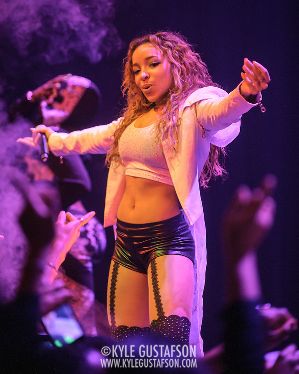 "WASHINGTON, DC - December 17th, 2014 - Tinashe performs at the Howard Theatre in Washington, D.C. Aquarius, her debut album, was released earlier this year and featured the Top 40 hit song ""2 On."" (Photo By Kyle Gustafson / For The Washington Post)"