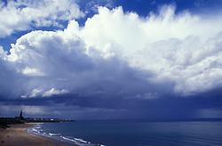 Storm cloud over Whitley Bay Tyne & Wear UK
