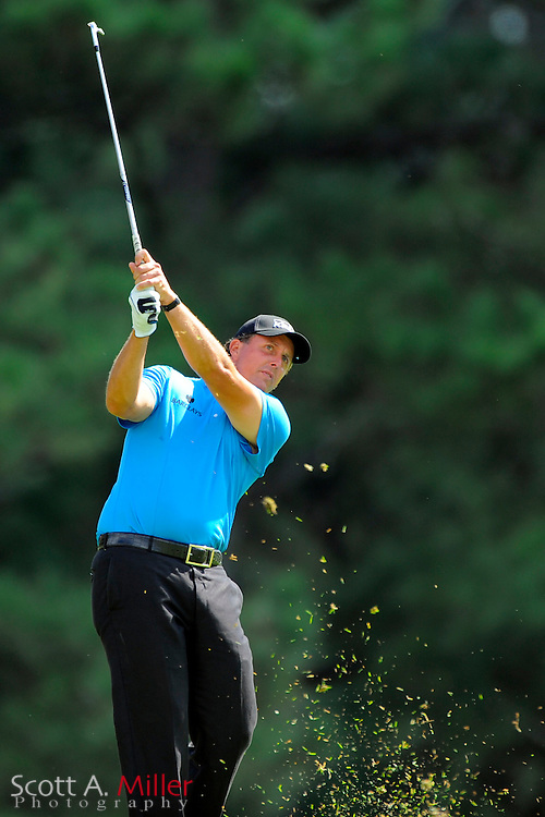 Phil Mickelson (USA) takes his second shot on the eighth hole during the final round of the PGA Tour Championship the final event of the 2009 FedEx Cup at East Lake Golf Club on Sept. 27, 2009 in Decatur, Ga.     ..©2009 Scott A. Miller