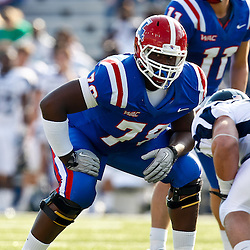 December 4, 2010; Ruston, LA, USA;  Louisiana Tech Bulldogs offensive linesman Jordan Mills (78) against the Louisiana Tech Bulldogs during the first half at Joe Aillet Stadium.  Mandatory Credit: Derick E. Hingle