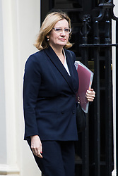 Downing Street, London, March 7th 2017. Home Secretary Amber Rudd arrives in Downing Street for a mini cabinet meeting ahead of the Chancellor's March 8th budget.