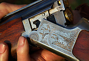 Lionel Swift's gun, Duck hunting season opens near Howlong on the Murray River. Pic By Craig Sillitoe CSZ/The Sunday Age 10/3/2011 This photograph can be used for non commercial uses with attribution. Credit: Craig Sillitoe Photography / http://www.csillitoe.com<br />