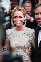Actress Emily Blunt, at the gala screening for the film Sicario at the 68th Cannes Film Festival, Tuesday May 19th 2015, Cannes, France.