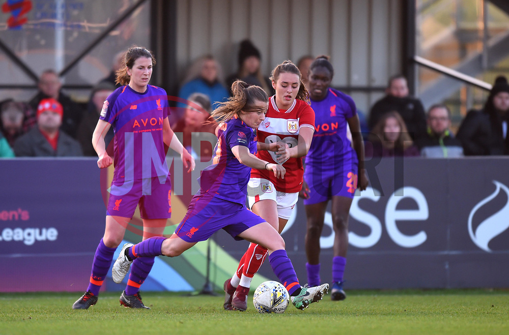 Christie Murray of Liverpool Women with the ball - Mandatory by-line: Paul Knight/JMP - 17/11/2018 - FOOTBALL - Stoke Gifford Stadium - Bristol, England - Bristol City Women v Liverpool Women - FA Women's Super League 1