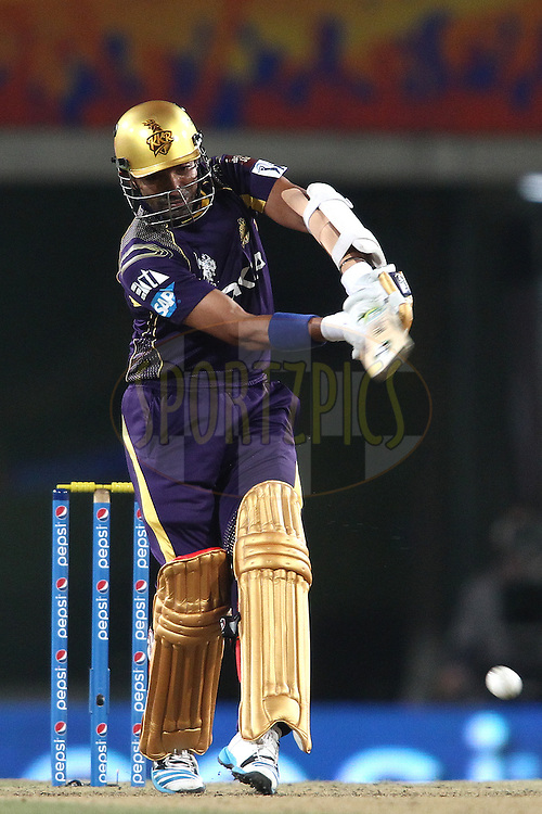 Robin Uthappa of the Kolkata Knight Riders pulls a low delivery during match 21 of the Pepsi Indian Premier League Season 2014 between the Chennai Superkings and the Kolkata Knight Riders  held at the JSCA International Cricket Stadium, Ranch, India on the 2nd May  2014<br /> <br /> Photo by Shaun Roy / IPL / SPORTZPICS<br /> <br /> <br /> <br /> Image use subject to terms and conditions which can be found here:  http://sportzpics.photoshelter.com/gallery/Pepsi-IPL-Image-terms-and-conditions/G00004VW1IVJ.gB0/C0000TScjhBM6ikg