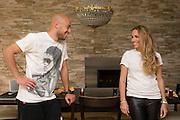 11.04.2014; Villmergen; Fussball Super League; Portrait Yassin Mikari; Portrait Yassin Mikari (FC Luzern) mit Ehefrau Didem (Valeriano Di Domenico/freshfocus)