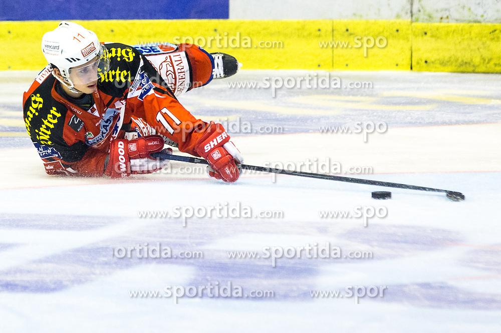 Daniel Ban (EC KAC, #11) during ice-hockey match between EC KAC and HDD Telemach Olimpija in 1st Round of EBEL League in Season 2014 / 15 on September 12, 2014 in Sporthalle KAC, Klagenfurt, Slovenia. Photo by Matic Klansek Velej / Sportida