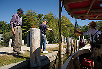 Steamboaters had the perfect day to motor around on Lake Winnipesaukee at Lees Mill on Wednesday.  (Karen Bobotas/for the Laconia Daily Sun)
