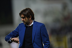 November 3, 2018 - Vercelli, Italy - Novara Calcio's coach Viali William during  Saturday evening's match against Novara Calcio valid for the 10th day of the Italian Lega Pro championship  (Credit Image: © Andrea Diodato/NurPhoto via ZUMA Press)