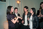 MARY MCCARTNEY; HARPER SIMON; TIM NOBLE; SUE WEBSTER, Dinner to mark 50 years with Vogue for David Bailey, hosted by Alexandra Shulman. Claridge's. London. 11 May 2010 *** Local Caption *** -DO NOT ARCHIVE-© Copyright Photograph by Dafydd Jones. 248 Clapham Rd. London SW9 0PZ. Tel 0207 820 0771. www.dafjones.com.<br /> MARY MCCARTNEY; HARPER SIMON; TIM NOBLE; SUE WEBSTER, Dinner to mark 50 years with Vogue for David Bailey, hosted by Alexandra Shulman. Claridge's. London. 11 May 2010