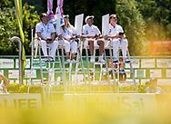 JUDGES<br /> Women's 10m platform preliminaries<br /> 25th FINA Diving Grand Prix 2019<br /> 14/06/2019<br /> Tuffi Diving<br /> Piscina Lido Bolzano<br /> Photo © Giorgio Perottino/Deepbluemedia/Insidefoto