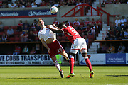 Accrington Stanley  Billy Kee (29) tries to head the ball during the EFL Sky Bet League 2 match between Swindon Town and Accrington Stanley at the County Ground, Swindon, England on 5 May 2018. Picture by Gary Learmonth.