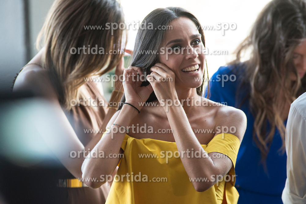 26.08.2015, Kinepolis Cinema, Madrid, ESP, Atrapa la Bandera, Premiere, im Bild Weather host Alba Lago attends to the photocall // during the premiere of spanish cartoon 'Capture The Flag&quot; at the Kinepolis Cinema in Madrid, Spain on 2015/08/26. EXPA Pictures &copy; 2015, PhotoCredit: EXPA/ Alterphotos/ BorjaB.hojas<br /> <br /> *****ATTENTION - OUT of ESP, SUI*****
