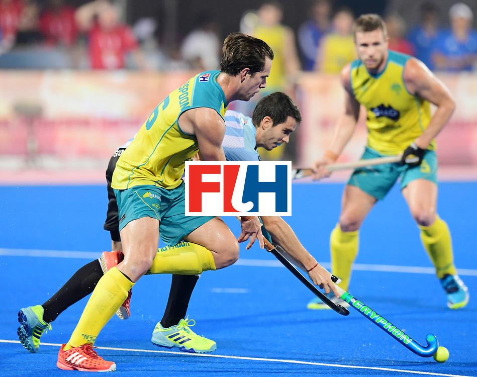 Odisha Men's Hockey World League Final Bhubaneswar 2017<br /> Match id:22<br /> Argentina v Australia Final<br /> Foto: Dylan Wotherspoon (Aus) <br /> COPYRIGHT WORLDSPORTPICS FRANK UIJLENBROEK