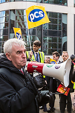 31 Jan 2018 - PCS Union protest at the Home Office to end the public sector pay cap.