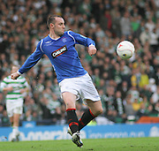 Kris Boyd fires in a shot during the League Cup final between Rangers and Celtic at Hampden Park -<br /> David Young