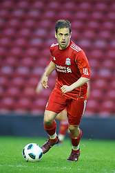 LIVERPOOL, ENGLAND - Thursday, May 5, 2011: Liverpool's Joe Cole in action against Manchester United during the FA Premiership Reserves League (Northern Division) match at Anfield. (Photo by David Rawcliffe/Propaganda)