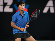 Luksika Kumkhum of Thailand in action during her first-round match at the 2019 Australian Open Grand Slam tennis tournament on January 14, 2019 at Melbourne Park in Melbourne, Australia - Photo Rob Prange / Spain ProSportsImages / DPPI / ProSportsImages / DPPI