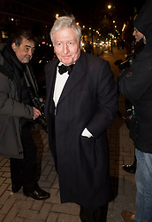 © Licensed to London News Pictures. 07/02/2018. London, UK. CHRISTOPHER MORAN arrives at the Natural History Museum in London for the annual Black and White Ball, a fundraiser held by the Conservative Party. Photo credit: Ben Cawthra/LNP