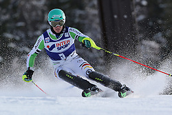 06.01.2014, Stelvio, Bormio, ITA, FIS Weltcup Ski Alpin, Bormio, Slalom, Herren, im Bild Felix Neureuther // Felix Neureuther  in action during mens Slalom of the Bormio FIS Ski World Cup at the Stelvio in Bormio, Italy on 2014/01/06. EXPA Pictures © 2014, PhotoCredit: EXPA/ Sammy Minkoff<br /> <br /> *****ATTENTION - OUT of GER*****