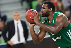 Sofoklis Schortsanitis of Panathinaikos during basketball match between KK Union Olimpija and Panathinaikos Athens (GRE) in 3rd Round of Regular season of Euroleague 2012/13 on October 26, 2012 in Arena Stozice, Ljubljana, Slovenia. Panathinaikos defeated Union Olimpija 85:67. (Photo By Matic Klansek Velej / Sportida)