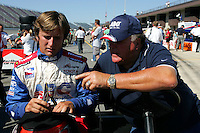 AJ Foyt Jr. and AJ Foyt IV at the Michigan International Speedway, Firestone Indy 400, July 31, 2005
