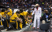 Bowie State band members were noticing the stylish shoes of Mr. CIAA during one of his many suit changes through out the tournament.