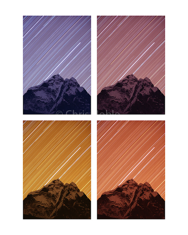 Time Lapse Photography of the night sky above Ama Dablam, Khumbu Himal, Nepal