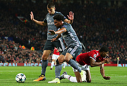 Eliseu of Benfica fouls Marcus Rashford of Manchester United resulting in a penalty - Mandatory by-line: Matt McNulty/JMP - 31/10/2017 - FOOTBALL - Old Trafford - Manchester, England - Manchester United v Benfica - UEFA Champions League Group A