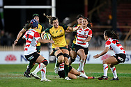 SYDNEY, AUSTRALIA - JULY 19: Grace Hamilton (8) of the Wallaroos is tackled by Ayaka Suzuki (12) of Japan during the second rugby test match between the Australian Wallaroos and Japan on July 19, 2019 at North Sydney Oval in Sydney, Australia. (Photo by Speed Media/Icon Sportswire)