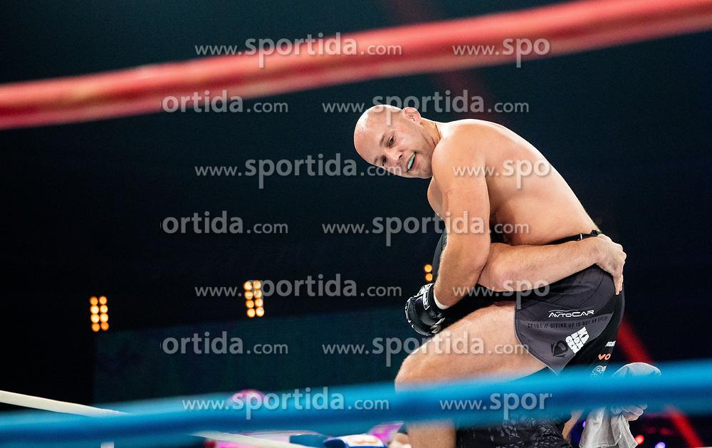 Marko Drmonjič (black) vs Zoran Đođ during their middleweight fight at CFC 5 Fighting event, on October 6, 2019 in Arena Stozice, Ljubljana, Slovenia. Photo by Vid Ponikvar / Sportida