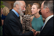 PRINCE MICHAEL OF KENT, Cartier dinner in celebration of the Chelsea Flower Show. The Palm Court at the Hurlingham Club, London. 19 May 2014.