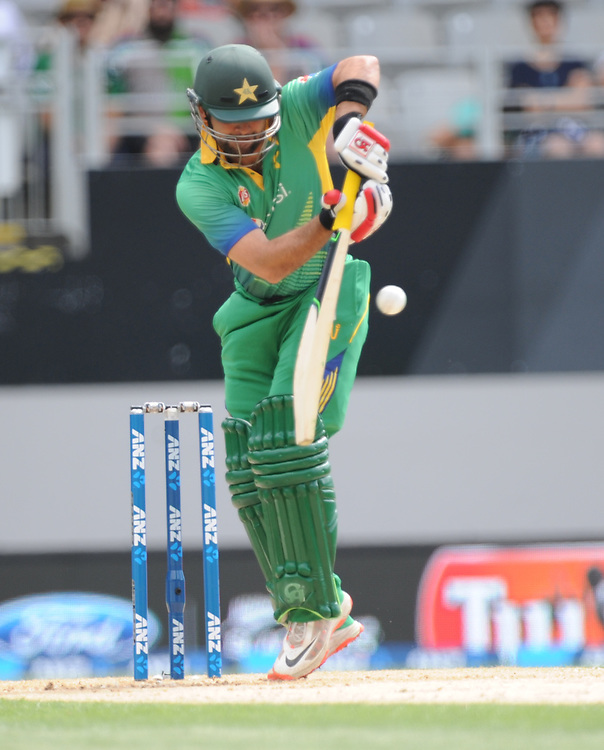 Pakistan's Ahmed Shahzad batting against New Zealand in the 3rd ODI International Cricket match at Eden Park, Auckland, New Zealand, Sunday, January 31, 2016. Credit:SNPA / Ross Setford