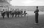 Marching band playing before the All Ireland Senior Gaelic Football Final Kerry v Down in Croke Park on the 22nd September 1968. Down 2-12 Kerry 1-13.