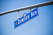 Downey Ave Street Sign