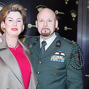 NLD/Hilversum/20180125 - Gouden RadioRing Gala 2017, Marco Kroon en partner
