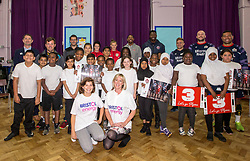 Bristol Sport and Bristol Energy launch their partnership at Millpond School with help from Ian Madigan, Joe Latta and Siale Piutau of Bristol Rugby, Daniel Edozie and Rhondell Goodwin of Bristol Flyers and Jas Matthews and Yana Daniels of Bristol City Women - Mandatory by-line: Robbie Stephenson/JMP - 09/10/2017 - SPORT - Millpond School - Bristol, England - Bristol Sport and Bristol Energy Partnership Launch