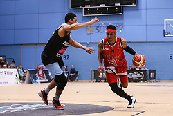 Justin Gray of Bristol Flyers drives with the ball - Photo mandatory by-line: Arron Gent/JMP - 28/04/2019 - BASKETBALL - Surrey Sports Park - Guildford, England - Surrey Scorchers v Bristol Flyers - British Basketball League Championship