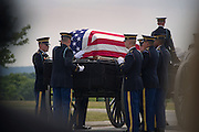 Funeral services for Capt. Joseph W. Schultz are conducted under full honors on <br /> a late summer morning in Arlington National Cemetery.  Phot by Johnny Bivera