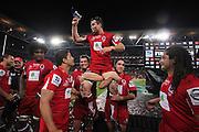 Super Rugby Final at Suncorp Stadium in Brisbane,  July 9, 2011.  Photo: Patrick Hamilton/Photosport