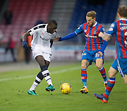 Dundee's Kostadin Gadzhalov and Inverness' Henri Anier - Inverness Caledonian Thistle v Dundee in the Ladbrokes Scottish Premiership at Caledonian Stadium, Inverness.Photo: David Young<br /> <br />  - © David Young - www.davidyoungphoto.co.uk - email: davidyoungphoto@gmail.com