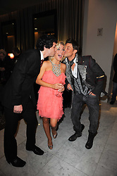 Left to right, ALEX GAUMOND, Actress Sheridan Smith and DUNCAN JAMES at the after show party following the first night of the musical Legally Blonde, held at the Waldorf Hilton Hotel, Aldwych, London on 13th January 2010.