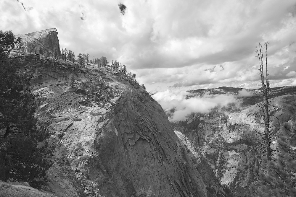 Half Dome From Clouds Rest - Yosemite - Black & White