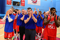 Bristol Flyers applauds the fans after the game  - Photo mandatory by-line: Dougie Allward/JMP - 01/04/2017 - BASKETBALL - SGS Wise Arena - Bristol, England - Bristol Flyers v Leeds Force - British Basketball League