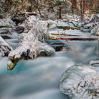 Olallie Creek shows off it's winter wonder